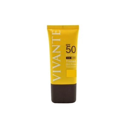 تصویر کرم ضد آفتاب رنگی بدون چربی SPF50ویوانته مدیوم + بژ